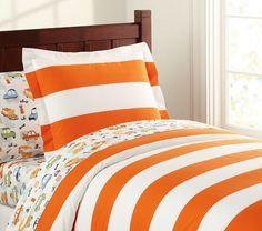 Toddler bedding idea (orange)