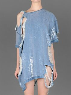 Ashish sequin denim t-shirt #ashish