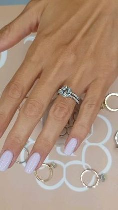 Dream Engagement Rings, Halo Diamond Engagement Ring, Diamond Wedding Bands, Wedding Ring With Band, Best Wedding Rings, Round Wedding Rings, Simple Elegant Engagement Rings, 3 Carat Diamond Ring, Inexpensive Wedding Rings
