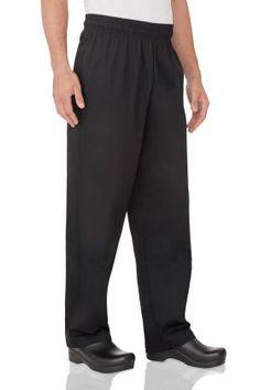 Chef Baggy Pants Black Hospitality Uniform Chefs Kitchen Cook Chefworks Medium 2 pairs for 30 Uniform Design, Mens Essentials, One Back, Elastic Waist, Cotton Fabric, Pajama Pants, Sweatpants, Slim, Legs
