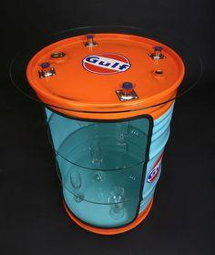 Gulf Retro Design Vintage Fassmöbel,Ölfass Regal,Vitrine,Designmöbel in Möbel & Wohnen, Möbel, Stühle | eBay!