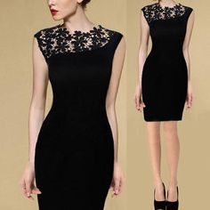 Cheap Dresses, Buy Directly from China Suppliers:		  	Colour:Black	Material:Cotton,Polyester,Lace	Size:	Tag Size: S, Bust: 80cm (31.5in), Waist: 70cm (27.6in), Hip: