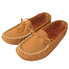 Men's WIDE Soft Sole Cowhide Leather Moccasins