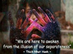 the illusion of our separateness