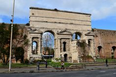 Porta Maggiore | it is one of the eastern gates in the ancient Aurelian Walls of Rome, built in 52 AD the emperor Claudius. The reason for to build this port was to conecting the aqueducs which began early and complited by Claudius.