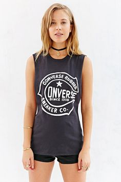 Converse Retro Open Muscle Tee - Urban Outfitters
