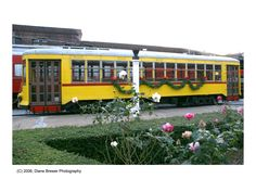 A train car decked out for Christmas at the Chattanooga Choo Choo.