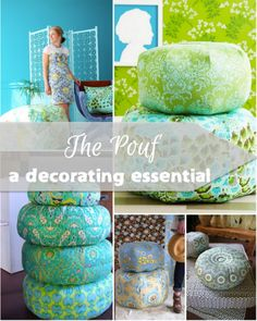 A decorating essential…free pouf sewing pattern!   http://fabricshopperonline.com/the-pouf-decorating-essential-free-pattern/