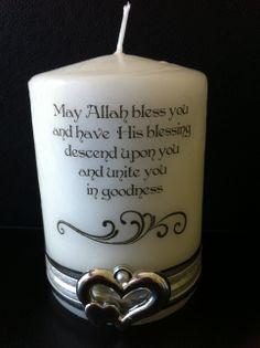 Nikah Candle Muslim Wedding Personalised