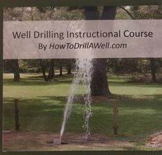 Have you ever wondered if you could drill your own water well? You can with help from Nathaniel Burson's DVD course that has been helping folks for 15 years