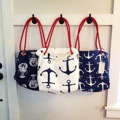 Red, white and blue!!! Sea Crow Company nautical tote bags. Handmade in Hancock Maine. ❤️⚓️