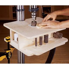 Drill-Press Drum-Sanding Table