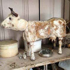 Schoenhut toys Cow 1800s Antique.