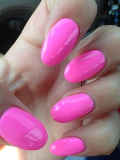 Pink rounded nails