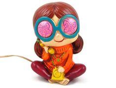 The 1960s Called  Vintage Hippie Girl Figural by OrbitingDebris, $85.00