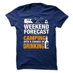 Awesome Tee CAMPING Beer  Wine T-Shirts