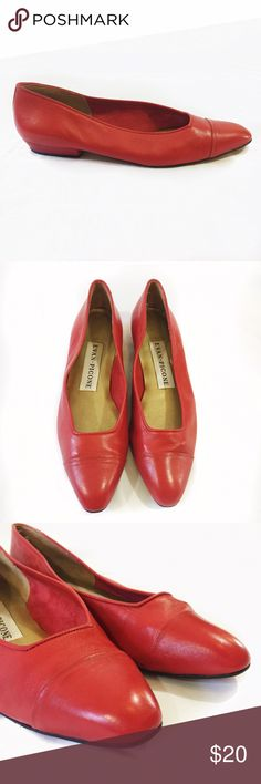 EVAN PICONE RED SHOES Good condition. No flaws. Evan Picone Shoes