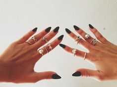 Pointed Nails | via Tumblr - cherss soup