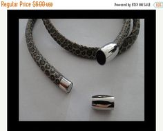 On Sale NOW 25%OFF Stainless Steel Magnetic Hidden Tube Clasp For 6mm Round Leather Cord - Silver - C1625 Qty 1 by LRPJewelryBox - jewelry supplies - jewelry supply - jewelry making