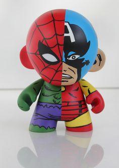 MARVEL MUNNY    Spider-Man, Captain America, Hulk and Iron Man    ACRYLIC on VINYL