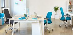 Pool Blue Max High Back Task Chair | Office Furniture | Poppin