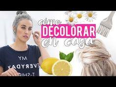 Cómo decolorar el cabello en casa   Trucos y remedios caseros - YouTube