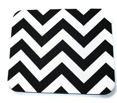 Mouse Pad mousepad / Mat - Rectangle or round - Chevron Black - Zig Zag - cubicle decor by Laa766 on Etsy https://www.etsy.com/listing/95712634/mouse-pad-mousepad-mat-rectangle-or