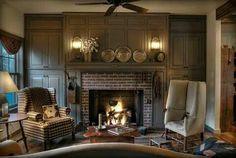millwork around the fireplace