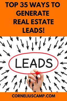 Do you need help generating leads? Use these top 35 ways to generate real estate. - Do you need help generating leads? Use these top 35 ways to generate real estate leads today!
