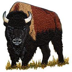 wildlife013 - Buffalo Machine Embroidery Design