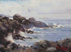 Brier Island Seascape by Poppy Balser was awarded Outstanding Watercolor in the September 2013 BoldBrush Painting Competition....
