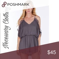 🍁🍂For the Frills Romper🍁🍂 Necessary Clothing Ruffle Romper. Super cute and fashionable. Slightly open back & shoulders🍁🍂 Necessary Clothing Pants Jumpsuits & Rompers