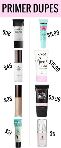 Primer Dupes Why buy end when there are so many amazing makeup primer dupes? The post Makeup Primer Dupes appeared first on Trendy.Why buy end when there are so many amazing makeup primer dupes? The post Makeup Primer Dupes appeared first on Trendy. Beauty Make-up, Beauty Dupes, Beauty Hacks, Natural Beauty, Beauty Land, Beauty Vanity, Face Beauty, Beauty Shop, Natural Makeup