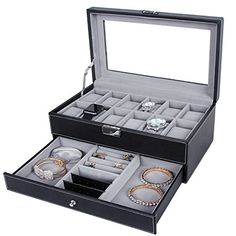 News Songmics Black Leather Watch Box 12 Mens Watch Organizer Jewelry Display Case w/ Drawer & Lock UJWB012 buy now $69.99 Songmics Black Leather Watch Box is great for personal use, shop display and home decoration. What a great way to not only dis... http://showbizlikes.com/songmics-black-leather-watch-box-12-mens-watch-organizer-jewelry-display-case-w-drawer-lock-ujwb012/