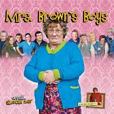 Mrs Brown's Boys - BBC Comedy!...we watched the filming of a programme in Glasgow....hilarious, even funnier live.