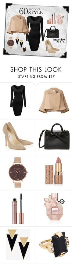 """60 second style"" by selmazbanic ❤ liked on Polyvore featuring J.TOMSON, Chloé, Olivia Burton, tarte, Viktor & Rolf, Yves Saint Laurent, Marni, jobinterview and 60secondstyle"