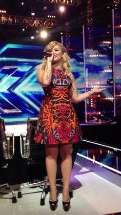 Demi Lovato wearing McQ Kaleidoscope Beetle Party Dress Christian Louboutin Daffodile pumps Christian Louboutin Highness 160mm Black Red Leather