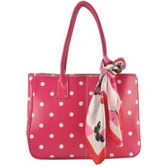 Bags with Polka Dots, fashionable bags Shopper Bag, Tote Bag, Young Designers, Vintage Pink, Fashion Bags, Really Cool Stuff, Purses And Bags, Polka Dots, Boutique