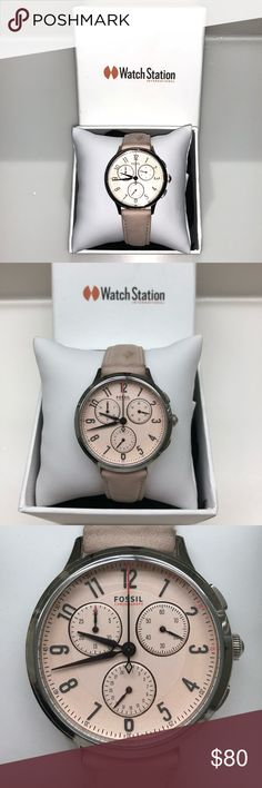 Fossil blush watch🕑 Blush color, comes in box, good condition Fossil Accessories Watches