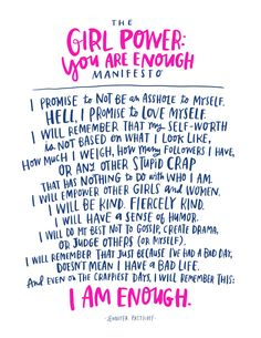 You Are Enough: An All Levels Yoga Class for Women & Girls in NYC with Jen Pastiloff.