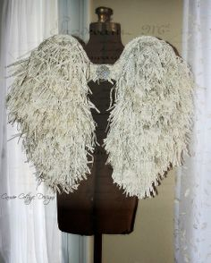 Cameo Cottage Designs: Shabby Tattered Angel Wing Tutorial