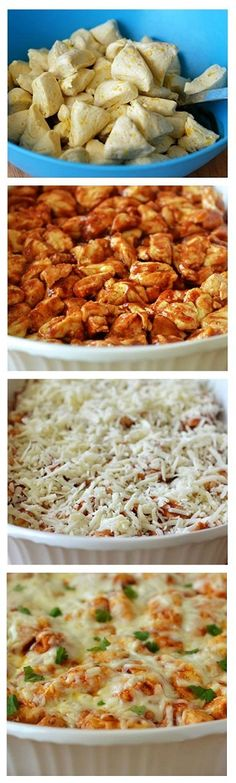 EASY 15 Minute Barbecue Chicken Bubble-Up Bake.