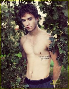 """Jeremy Sumpter with Peter Pan quote tattoo """"To die would be an awfully big adventure"""" <3"""