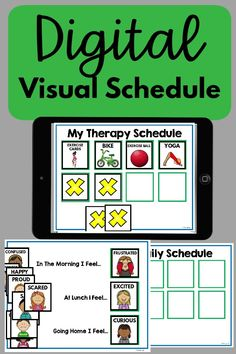 A visual schedule that can be used digitally! Use this for therapy, the classroom, or at home. This can be used in PowerPoint or Google Slides. Everyone wants to know what is comng next! Therapy Activities, Therapy Ideas, Emotions Cards, Kinesthetic Learning, Card Workout, Pediatric Physical Therapy, Fine Motor Activities For Kids, Schedule Cards, Different Emotions