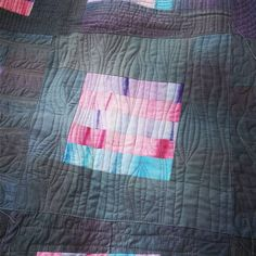 "deborah-ohare: "" Still plugging away at my practice quilt. """
