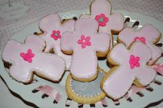 Cute idea for cookies for Baby Jakes baptism party.