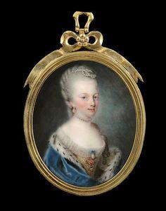 Buonasera. Maria Antonietta in una miniatura di Pierre Pasquier datata 1771. Liaunig Museum, Neuhaus. Austria
