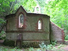 The derelict Victorian church is near Petworth, in West Sussex, England. Built in 1880, it was abandoned in 1959. http://en.wikipedia.org/wiki/Bedham