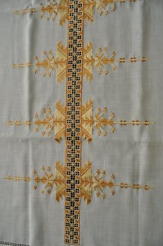 Antep İşi embroidery, table runner...