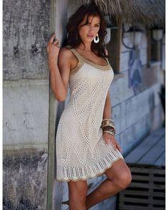 Delicadezas en crochet Gabriela: Vestido de ganchillo paso a paso